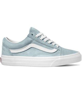 Vans Pig Suede Old Skool Shoes - Blu Fog/Tru Wht