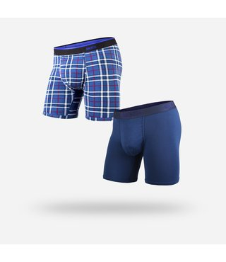 BN3TH Classic Boxer Brief 2-Pack - Navy Frsd Pld/Navy
