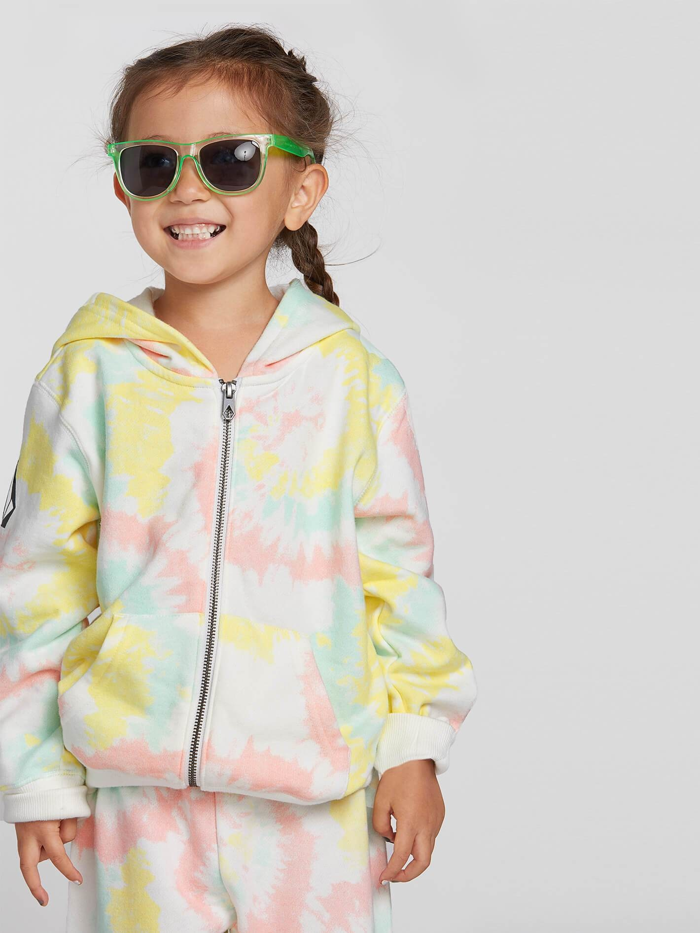 Volcom Little Girls Zippety Hooded Zip Up Sweatshirt