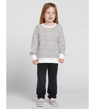 Volcom Little Girls Darting Traffic Crew - Star White