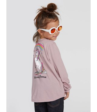 Volcom Little Girls Made From Stoke Long Sleeve - Faded Mauve