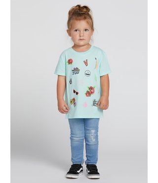 Volcom Little Girls Last Party Tee - Teal
