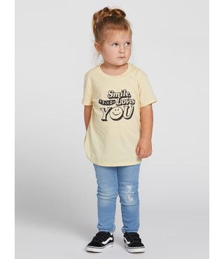 Volcom Little Girls Last Party Tee - Dust Yellow