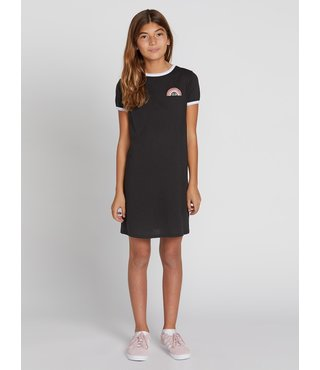 Volcom Big Girls Trippy Drippy Dress - Black