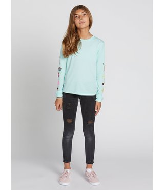 Volcom Big Girls Made From Stoke Long Sleeve - Teal
