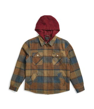 Brixton Bowery Jacket - Tan/Blue