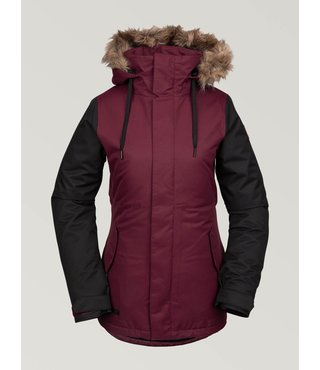 Volcom Women's Fawn Insulated Winter Jacket - Scarlet