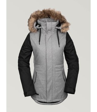 Volcom Women's Fawn Insulated Winter Jacket - H.Gry