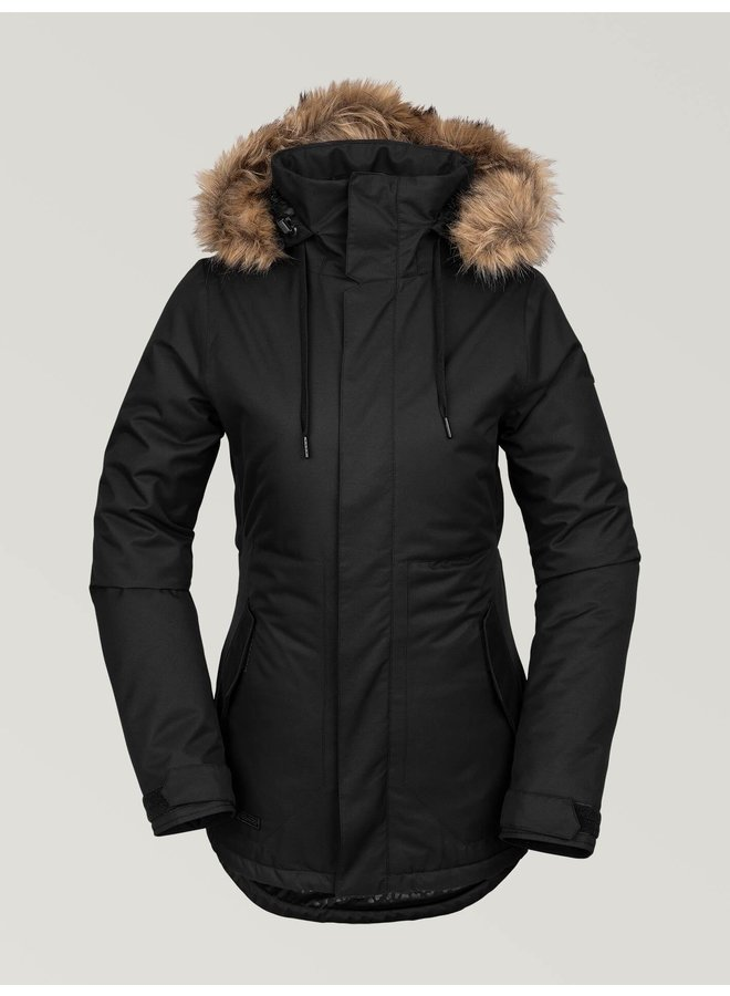 Volcom Women's Fawn Insulated Winter Jacket - Black