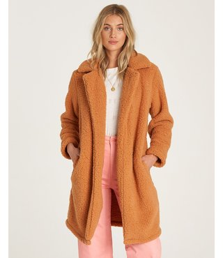 Billabong Long Fleece Jacket - Carmel