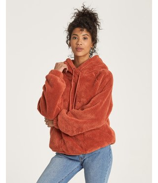 Billabong Warm Regards Sherpa Hoodie - Burnt Henna