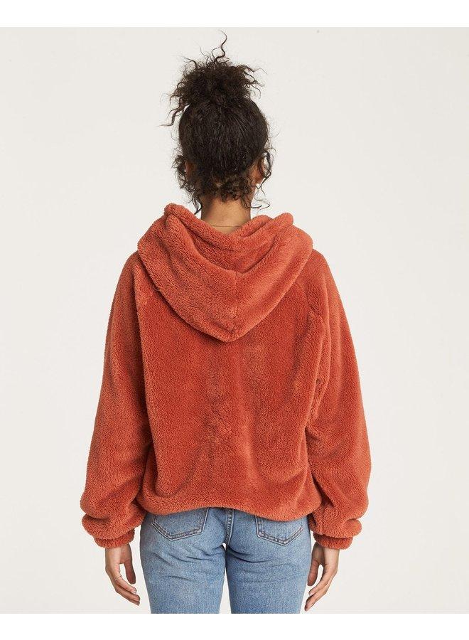 Billabong Warm Regards Sherpa Hoodie - Burnt Henna