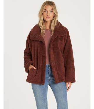 Billabong Cozy Days Sherpa Jacket - Coco Berry