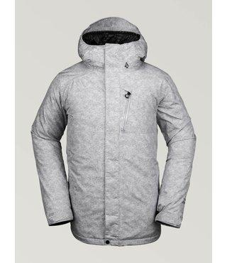 Volcom Men's L Insulated Gore-Tex Jacket - Hthr Grey