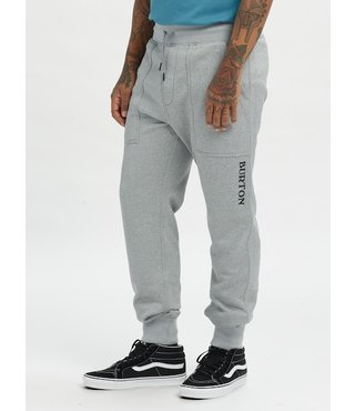 Men's Burton Oak Fleece Pant - Gray Hthr