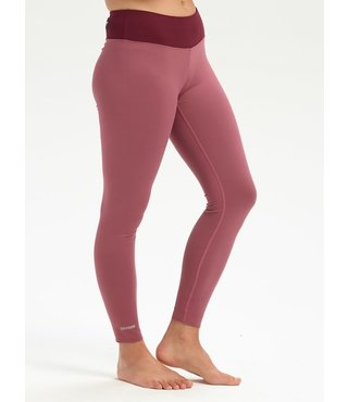 Women's Burton Midweight Base Layer Pant - Rose/Port