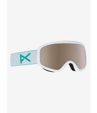Anon Insight Snow Goggle White w/ Silver Amber Lens + Spare