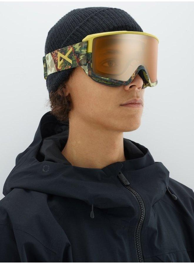 Anon M3 Snow Goggle Camo w/ Sonar Bronze Lens + Spare + MFI Facemask