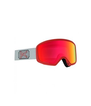Anon Deringer Snow Goggle White Rose w/ Sonar Red Lens + Spare + MFI Facemask