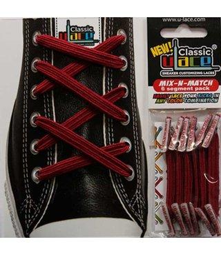 U-Lace Classic No-Tie Shoe Laces - Team Maroon