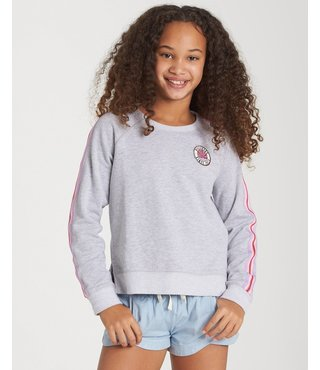 Billabong Girls' Weekends Here Pullover - Ash Hthr