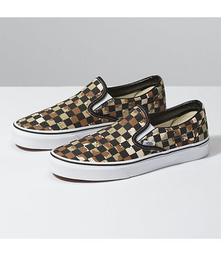 Vans Classic Slip On Shoes - Checker Camo