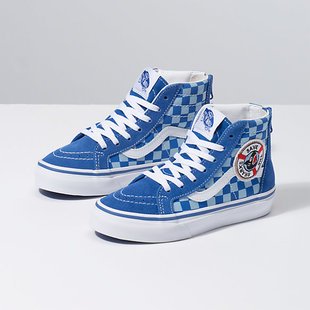 Vans x Shark Week Toddler Sk8-Hi Zip Shoes - Blue/Wht
