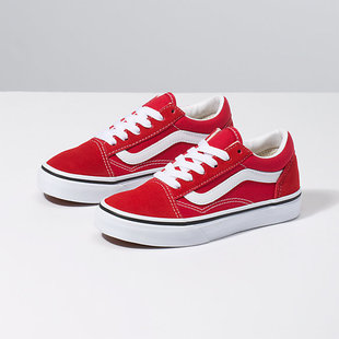 Vans Kids Old Skool Shoes - Racing Red/True Wht
