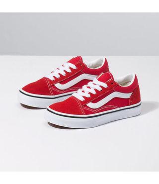Vans Kids Old Skool Shoes - Racing Red/True Wht