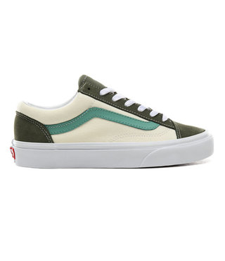 Vans Retro Sport Style 36 Shoes - Deep Green/Crème