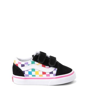 Vans Toddler Old Skool V Shoes - Check Rainbow