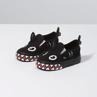 Vans x Shark Week Slip-On V Toddler - Blk/Red/Wht