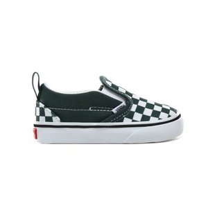 Vans Toddler Slip-On V Shoes - Checker Green