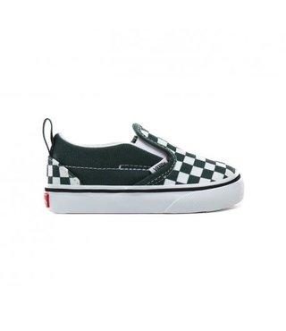 Vans Toddler Slip-On V Shoes - Checker Green