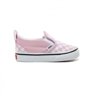 Vans Toddler Slip-On V Shoes - Checker Lilac