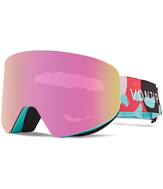 Von Zipper Encore Snow Goggles Satin w/ Wild Pink Chrome Lens