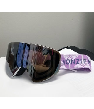 Von Zipper Encore Snow Goggles White Satin w/ Wild Silver Chrome Lens