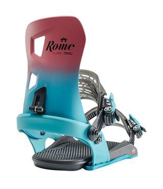 Rome Flare G2 Snowboard Bindings - Berry Fade