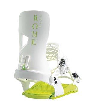 Rome Crux G2 Snowboard Bindings - White