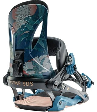 Rome Madison Boss Snowboard Bindings - Floral