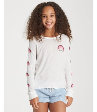 Billabong Girls' Over The Rainbow Long Sleeve T-Shirt - Cool Wip