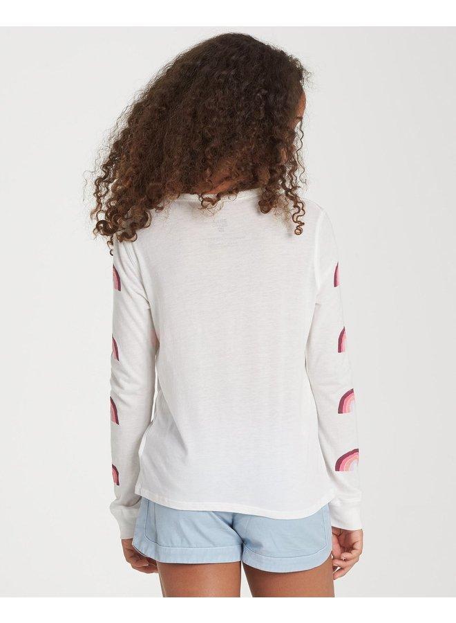 Billabong Girls' Over The Rainbow Long Sleeve T-Shirt - Cool Wip