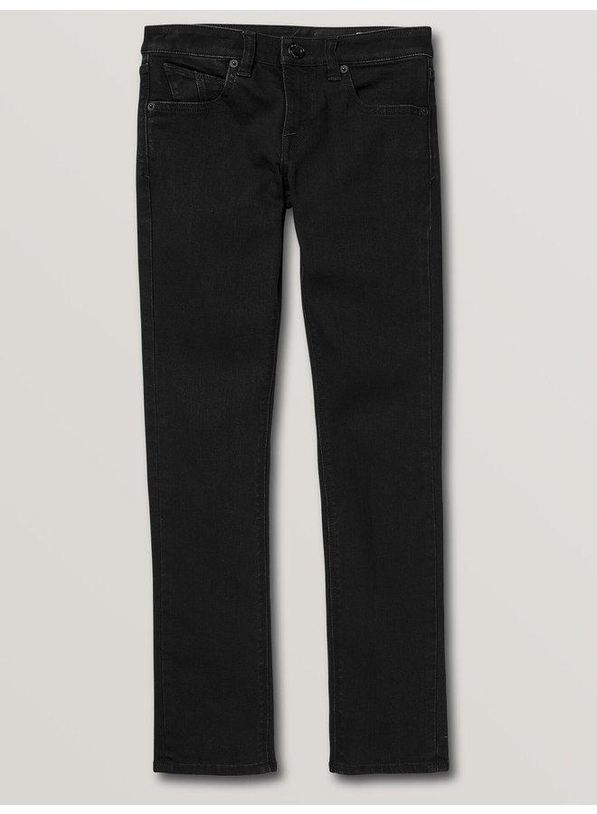 Volcom Big Boys 2x4 Skinny Fit Jeans - Black Out