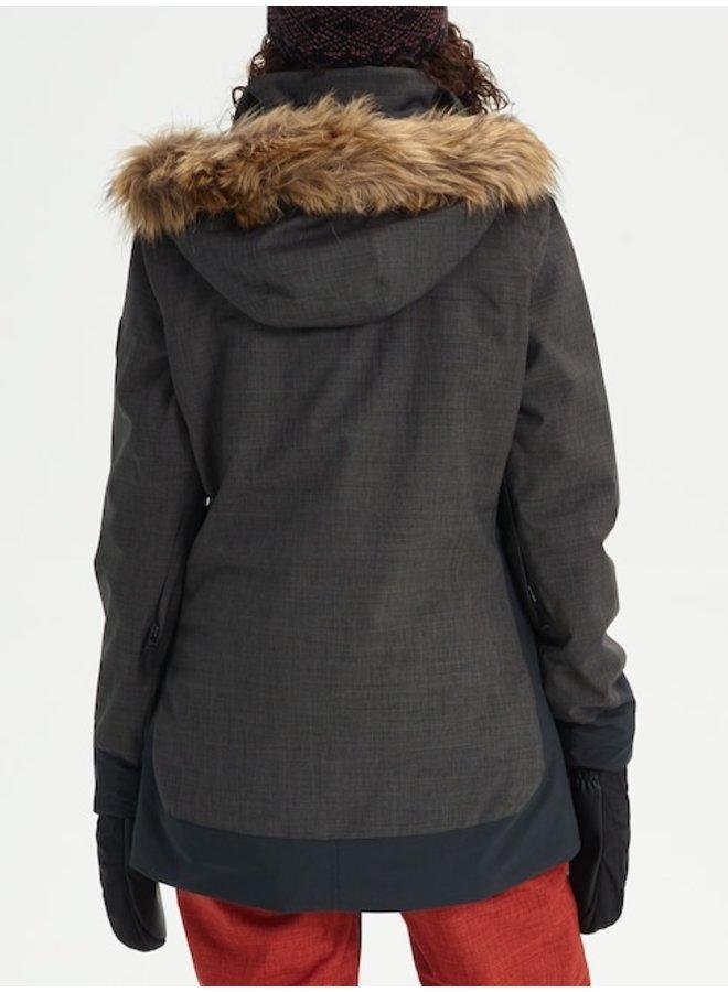 Women's Burton Lelah Jacket - True Blk Hthr/Blk
