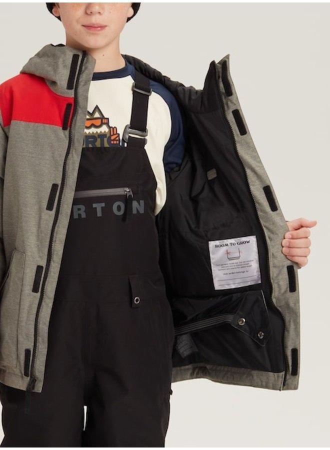 Boys' Burton Dugout Jacket - Bog Hthr / Flame Scarlet
