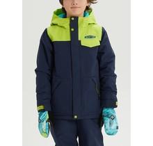 Boys' Burton Dugout Jacket - Dress Blue / Tender Shoots