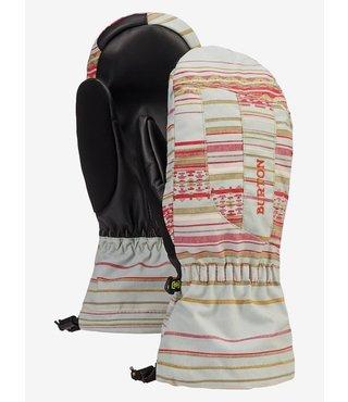 Women's Burton Profile Mitten - Aqua Gray Revel Stripe