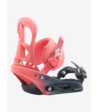 Women's Burton Stiletto Re:Flex Snowboard Binding - Pink Fade