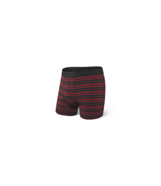 Saxx Platinum Boxer Brief w/ Fly - Blk/Red Tidal Stripe