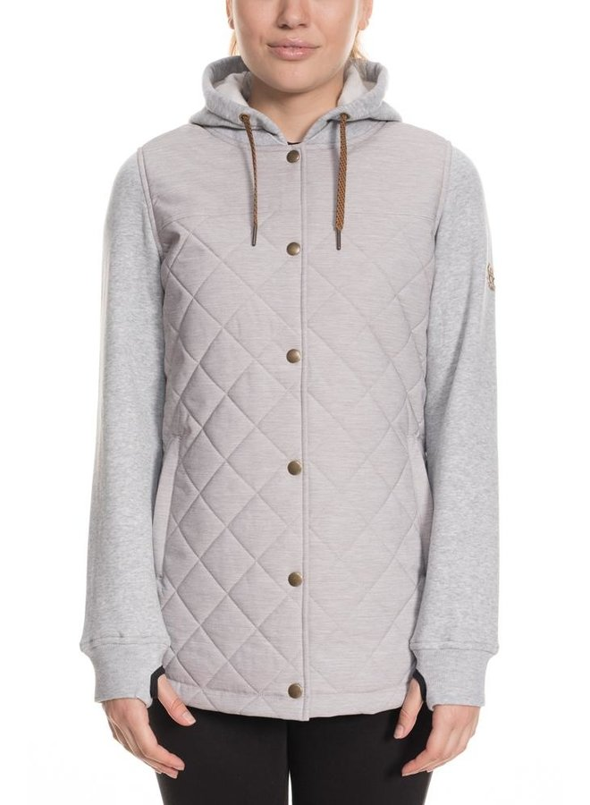 686 Women's Autumn Insulated Jacket - White Mlng Clrblk